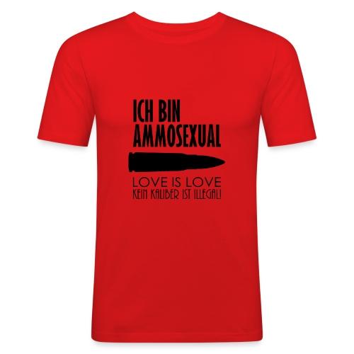 Ammosexual (schwarz) - Männer Slim Fit T-Shirt