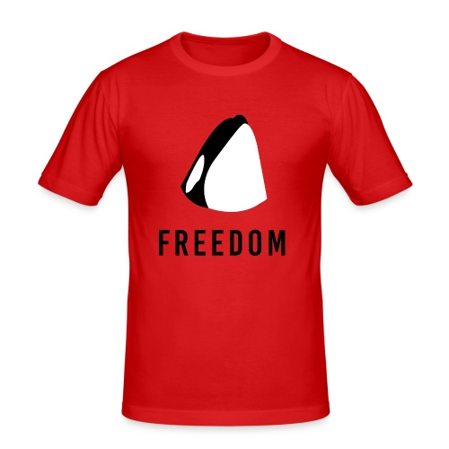 Whales for Freedom - Men's Slim Fit T-Shirt