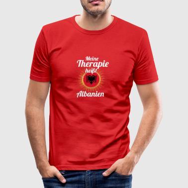 Meine Therapie ist Heimat Albanien - Männer Slim Fit T-Shirt