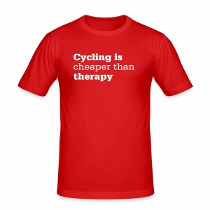 Cycling is therapy - Männer Slim Fit T-Shirt