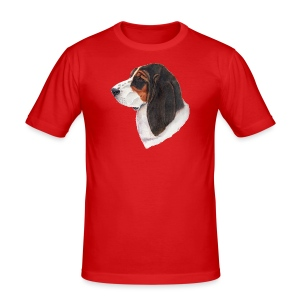 bassethound color - Herre Slim Fit T-Shirt