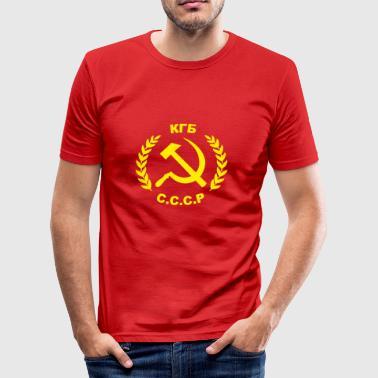 Hammer og segl KGB - Herre Slim Fit T-Shirt