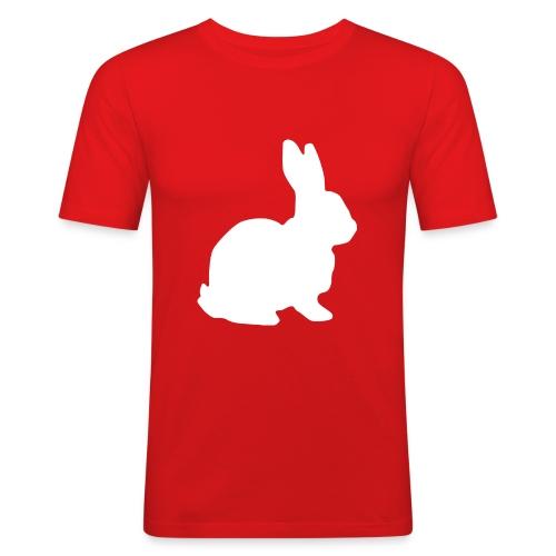 Follow the white rabbit. - Männer Slim Fit T-Shirt
