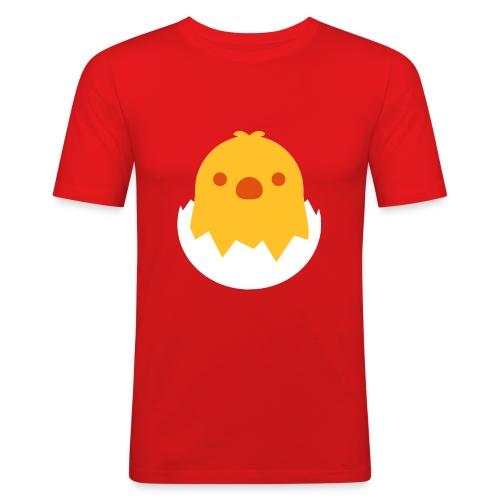 CUTE CHICKEN - EMOJI / SMILEY - Männer Slim Fit T-Shirt