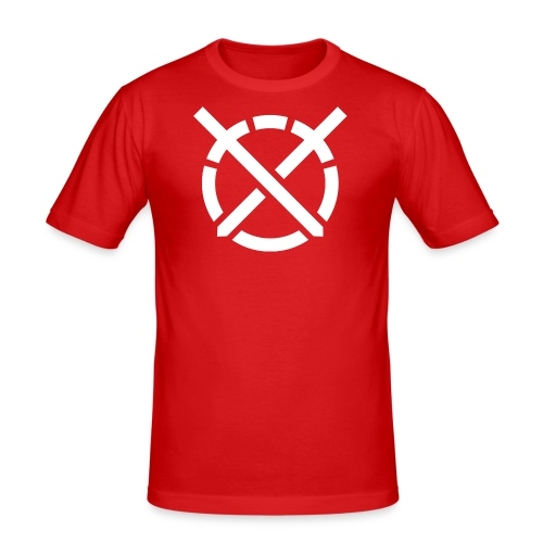 «Arte do Combate», simbolo em branco - Camiseta ajustada hombre
