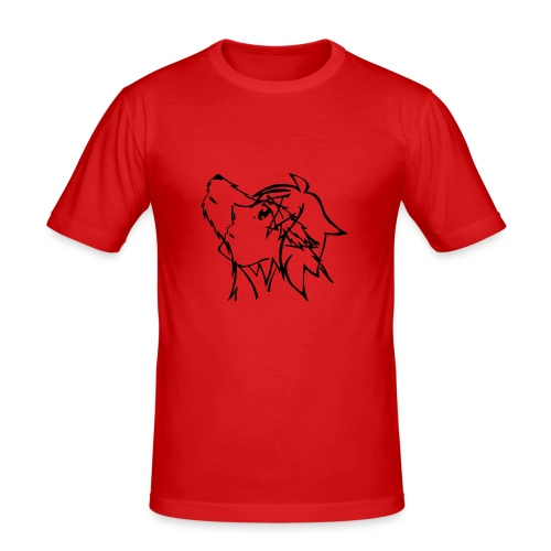 With the eyes of a wolf - Männer Slim Fit T-Shirt