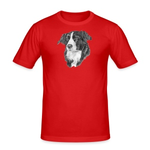 border collie S - Herre Slim Fit T-Shirt