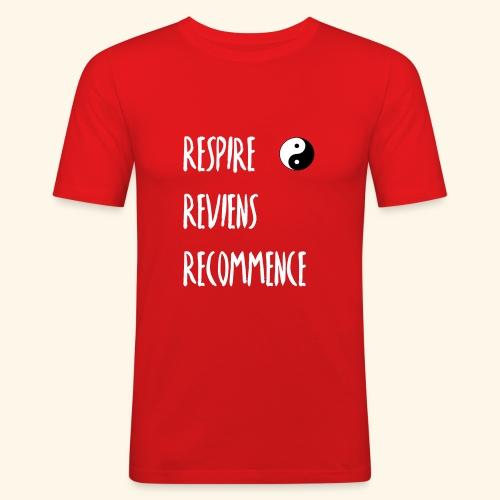 La respiration : l'essence de la vie - T-shirt près du corps Homme