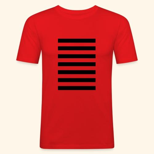 White Lands Streifen Muster - Männer Slim Fit T-Shirt