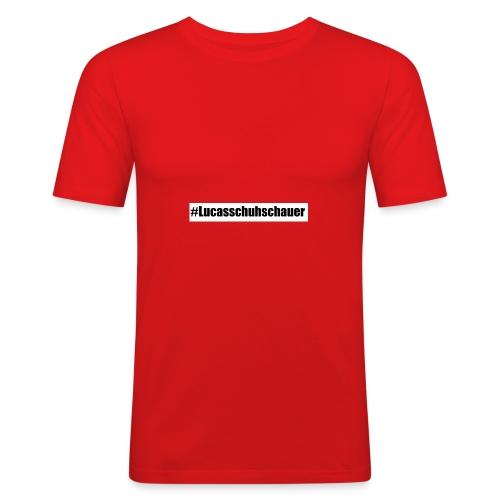 #Lucasschuhschauer - Männer Slim Fit T-Shirt