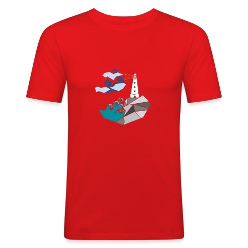 lighthouse - Slim Fit T-skjorte for menn