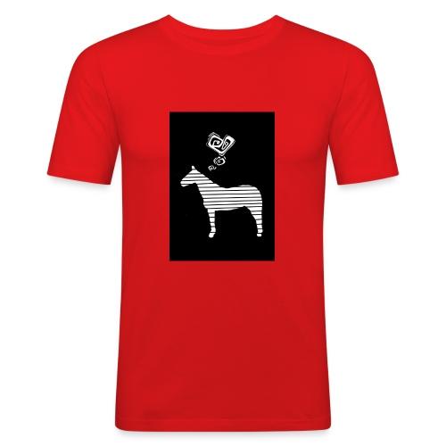 Pferde Herz - Männer Slim Fit T-Shirt