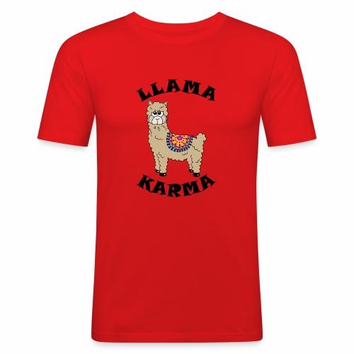 Llama Karma - Men's Slim Fit T-Shirt