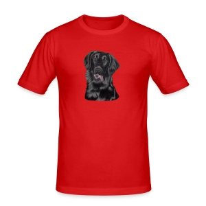flatcoated retriever p - Herre Slim Fit T-Shirt