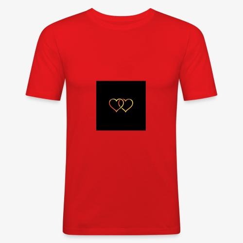 heart ! - Obcisła koszulka męska