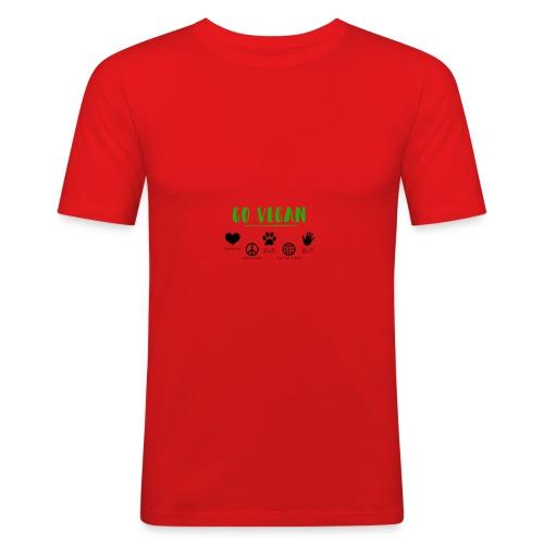 go vegan - Männer Slim Fit T-Shirt