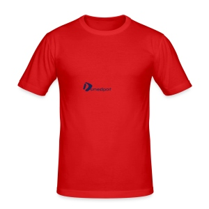 Logo DomesSport Blue noBg - Männer Slim Fit T-Shirt