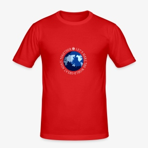 Let s Make The World Great Again Together - Tee shirt près du corps Homme
