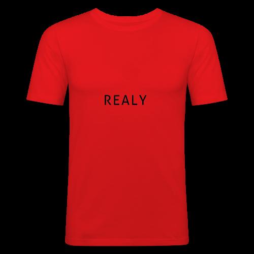 Realy desing - Männer Slim Fit T-Shirt