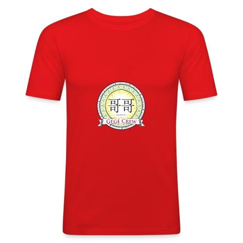 Gégé Crew Wappen - Grün - Männer Slim Fit T-Shirt