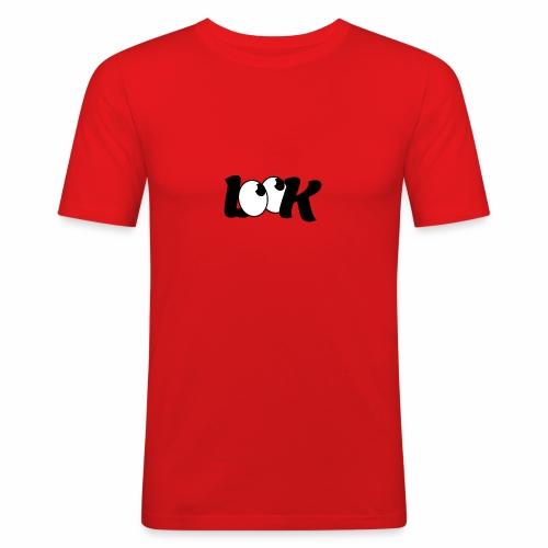 LOOK - Obcisła koszulka męska