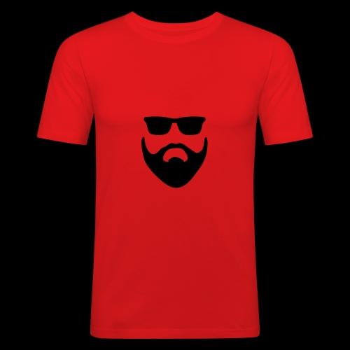 Bart und Sonnenbrille - Männer Slim Fit T-Shirt