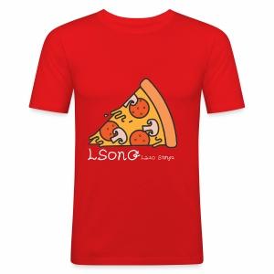LSonG pizza pic - Männer Slim Fit T-Shirt