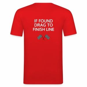 If found, drag to finish line - hardloopshirt - slim fit T-shirt