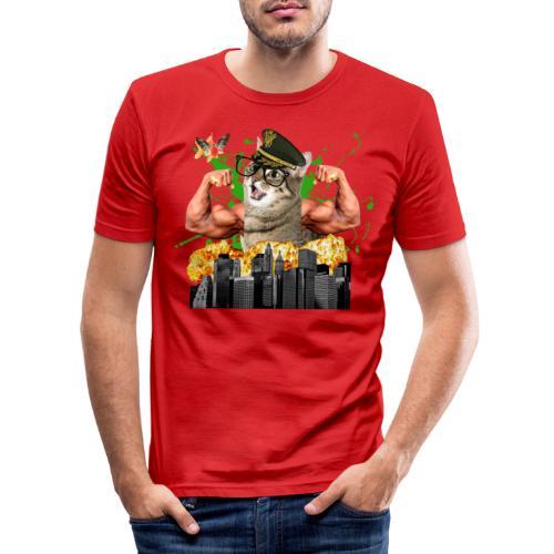 psychocat - Mannen slim fit T-shirt