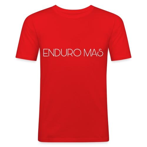 ENDURO MAS TEXTE - T-shirt près du corps Homme