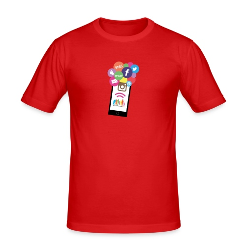 Premium t-shirt, tonåring, sociala medier - Slim Fit T-shirt herr