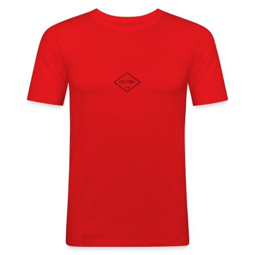 Isza Design, logo cap - Mannen slim fit T-shirt