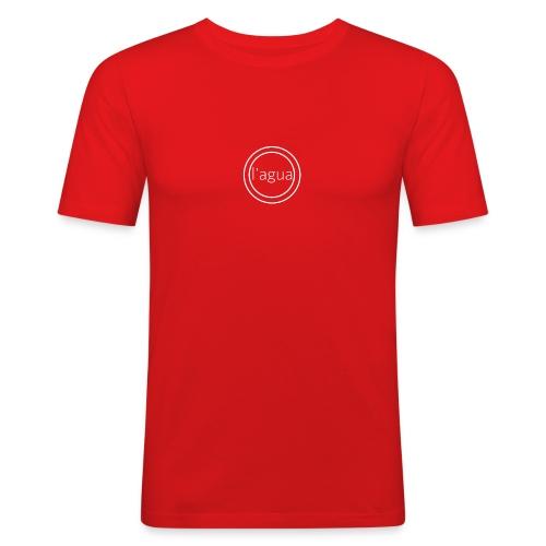 l agua white - Men's Slim Fit T-Shirt