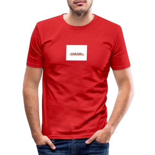 Utah hillss - Herre Slim Fit T-Shirt