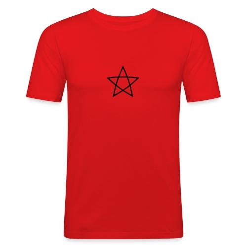 Pentagramm einfarbig - Männer Slim Fit T-Shirt