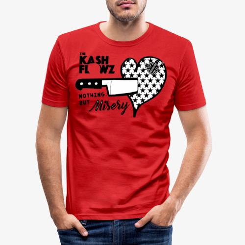 Nothing But Misery Knife Heart Black - T-shirt près du corps Homme