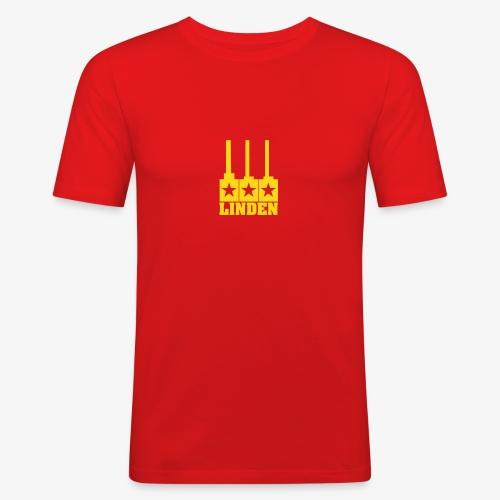 Linden-Logo - Männer Slim Fit T-Shirt