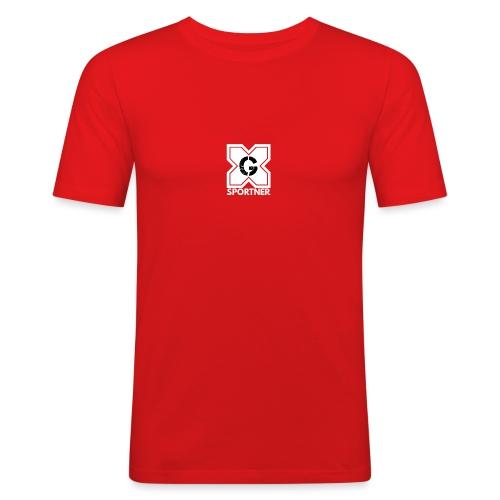Logo GX SPORTNER blanc - T-shirt près du corps Homme
