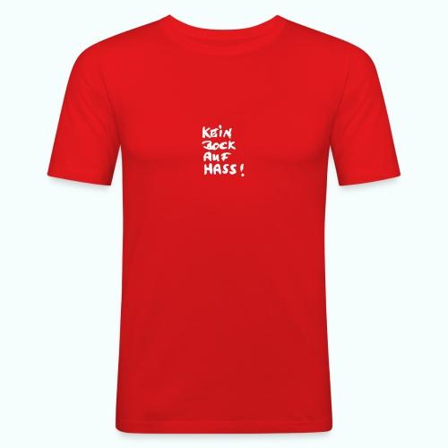 kein bock auf hass - Männer Slim Fit T-Shirt
