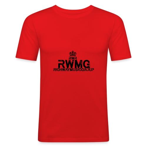 RWMG_Black 2 - Mannen slim fit T-shirt