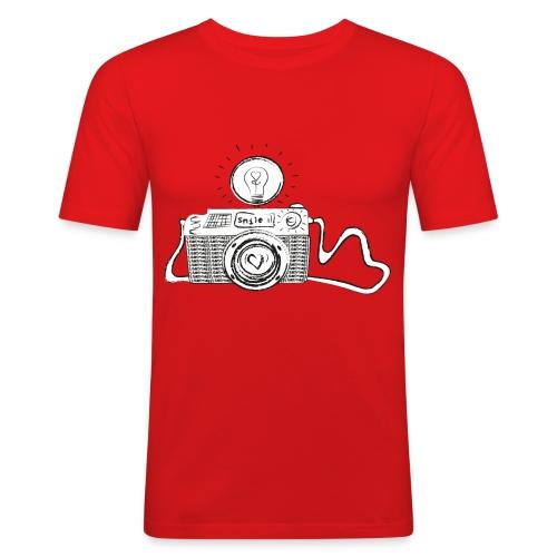 S33 camera-smile - Männer Slim Fit T-Shirt
