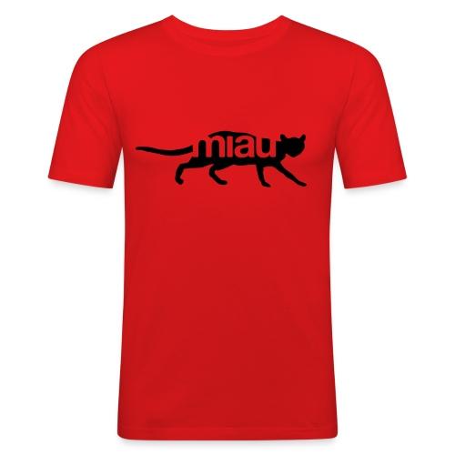 Miau - Männer Slim Fit T-Shirt