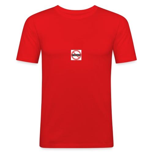 Gegen Rauchverbot Logo - Männer Slim Fit T-Shirt