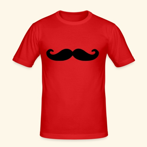 Loco Moustache - Mannen slim fit T-shirt