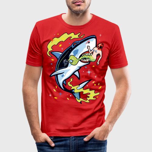 Requin mangeur de sirène - T-shirt près du corps Homme