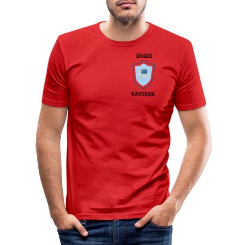 HOME-OFFICER 1 - Männer Slim Fit T-Shirt