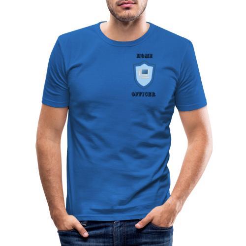 HOME-OFFICER 1 - Männer Slim Fit T-Shirt