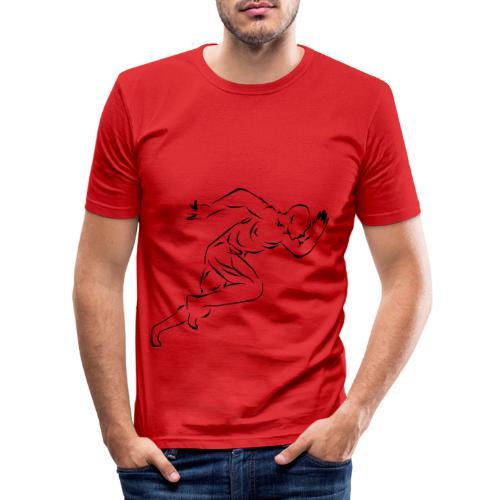 running_man - Männer Slim Fit T-Shirt