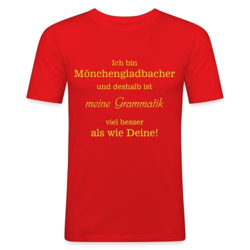 Gladbacher Grammatik - Männer Slim Fit T-Shirt