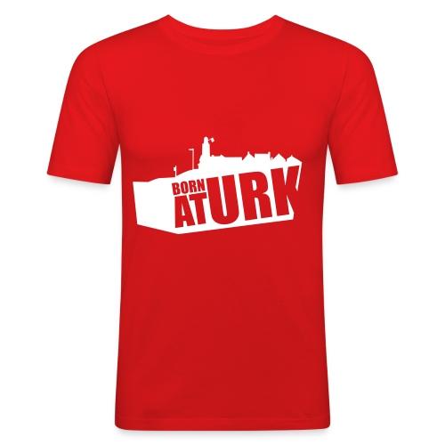 born at urk 1 - Mannen slim fit T-shirt